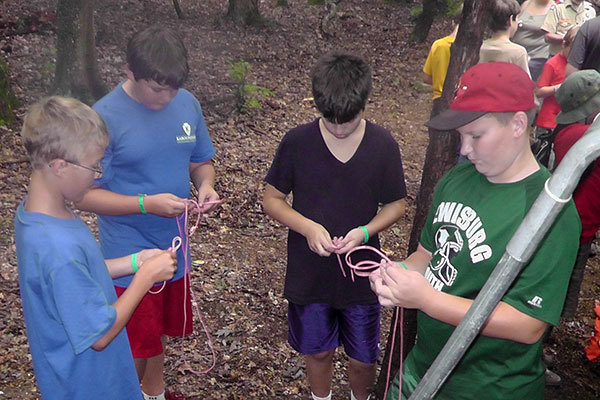 Learning to tie knots at Camp K