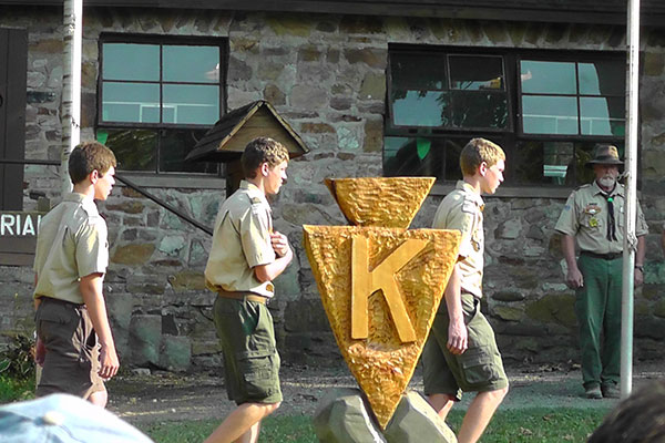 Flag Ceremony at Camp K